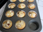 nectarine coconut white chocolate muffins
