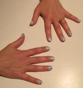 2013 New Year nail design confetti