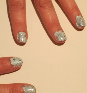 confetti New Year nail design 2013