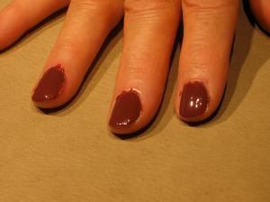 purplish brown nail color