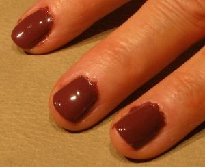 brown nail color