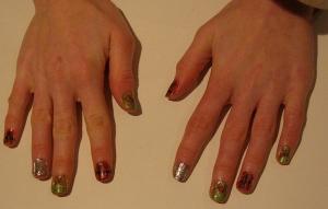 2012 Christmas nail design