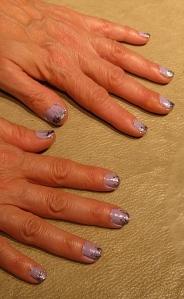 pink new year nail design