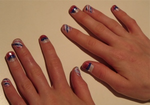 nail design for July 4th 2013