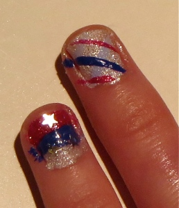 July 4th nail design 2013 nails