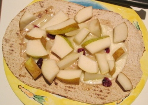 pear and provolone sweet and savory flat out flatbread pizza