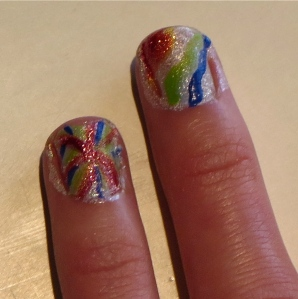 tie dye nail design