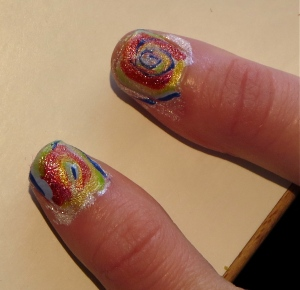 tie dye nails thumbnails