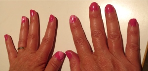 pink holstein cows nail design