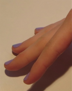 lavender optical illusion nails