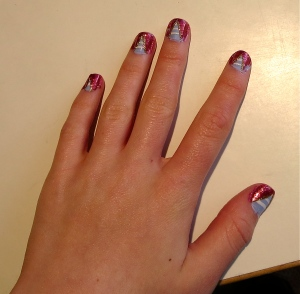 wizard of oz/patriotic nail design