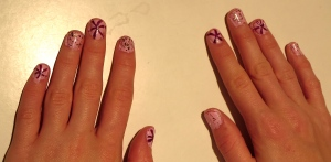 spines or lines nail design