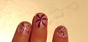 lines or spines nail design