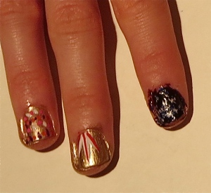 feathered nails design