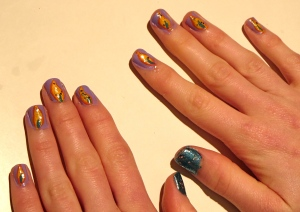 Hannukah candle nails 2013