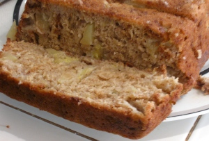 Apple cinnamon chocolate peanut butter banana bread