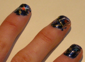 baby you're a firework nail design