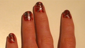 red Las Vegas showgirl nails