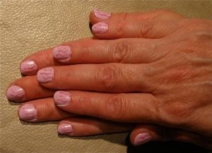 pink seaweed nails