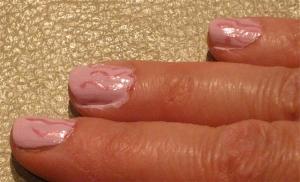 pink seaweed nail design