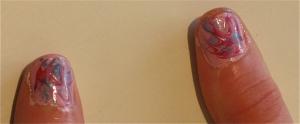 pink/blue marble nail design thumbnails