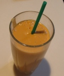 carrot peach white chocolate peanut butter smoothie