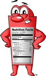 nutrition facts cartoon
