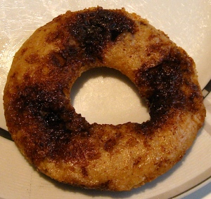 baked cinnamon swirl donut