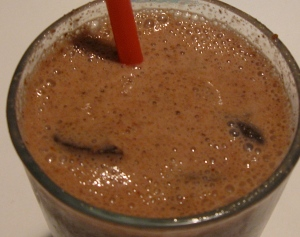 chocolate vanilla cinnamon thin mint smoothie