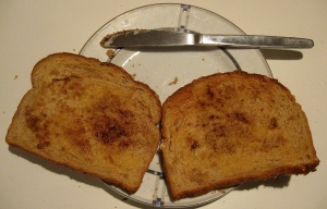 cinnamon toast for sandwich Lunch Liberation: Friday