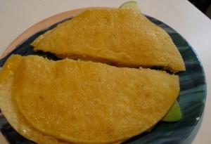 cheddar swiss apple quesadilla