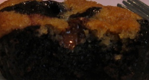 kosher for passover chocolate flourless cupcake with cherries and cookies