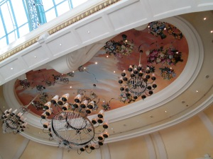 Bellagio Ceiling art and chandeliers: Las Vegas