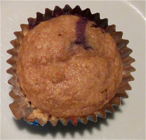 Weekday Breakfasts, updated! Monday: 100% whole wheat muffins with blueberry, lemon, and coconut