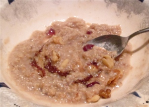 Weekday Breakfasts, Updated! Tuesday: oatmeal cookie oatmeal