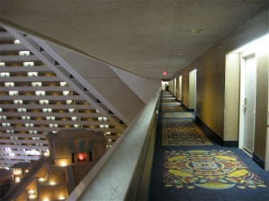 hallway at the Las Vegas Luxor