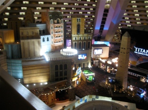 view from Luxor casino in Las Vegas
