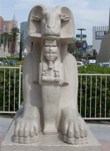 statue at the Luxor hotel: Las Vegas