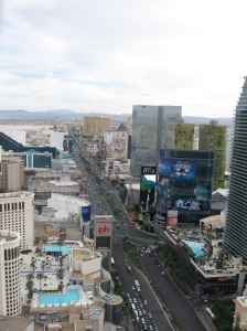 Vegas strip from the eiffel tower