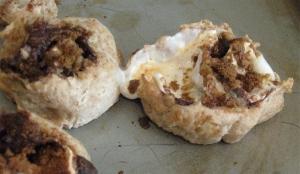 s'mores vegan cinnamon buns