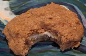 peach scone with white chocolate cream