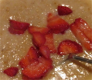 steel cut strawberry lemonade oatmeal