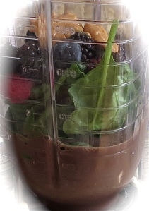 chocolate berry spinach smoothie ingredients