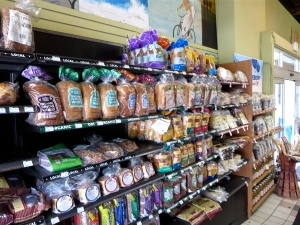 bread aisle at whole foods