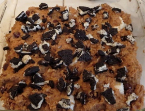 whonu cookie bars with peanut butter banana chocolate chip marshmallow