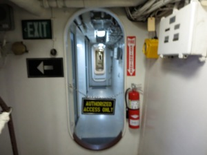 doors inside battleship iowa