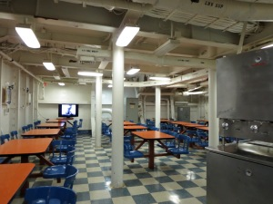 mess hall on battleship iowa