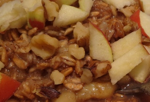 apple walnut banana oatmeal