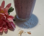 lime pineapple blueberry coconut almond smoothie
