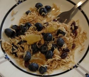 blueberry pineapple coconut raisin brown rice